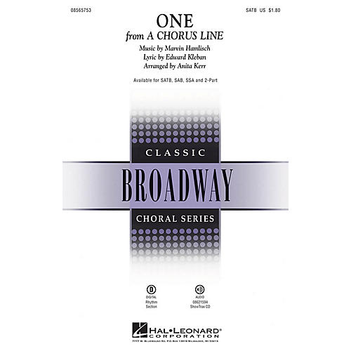 Hal Leonard One (from A Chorus Line) ShowTrax CD Arranged by Anita Kerr