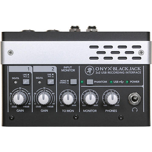 mackie onyx blackjack premium 2x2 usb recording interface musician 39 s friend. Black Bedroom Furniture Sets. Home Design Ideas