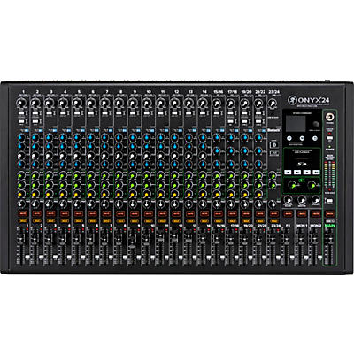 Mackie Onyx24 24-Channel Premium Analog Mixer with Multi-Track USB And Bluetooth
