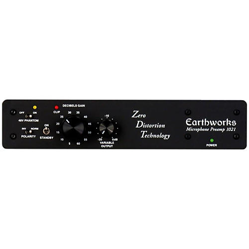 Open Box Earthworks 1021 One Channel ZDT Preamp