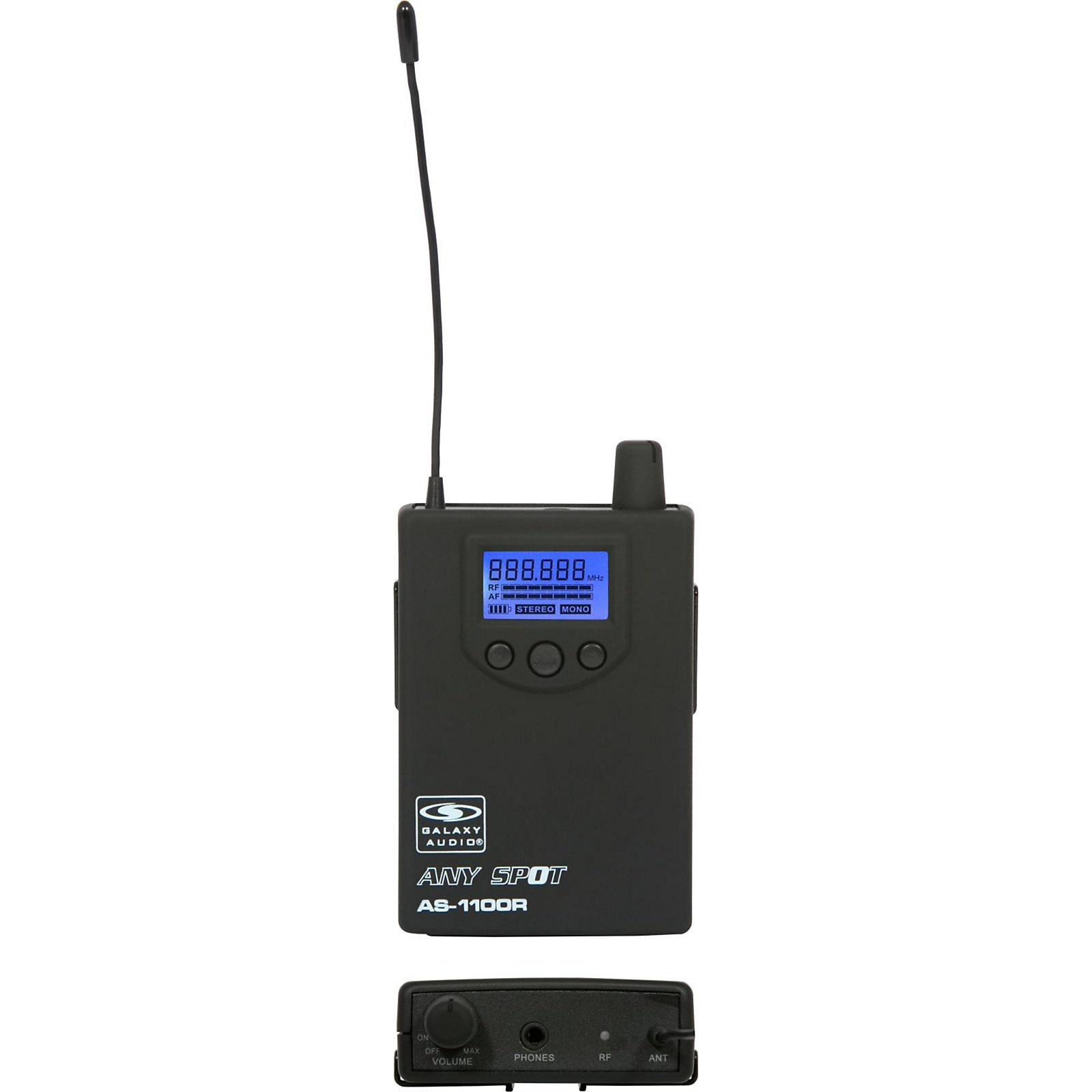 Open Box Galaxy Audio 1100 SERIES Wireless In-Ear Monitor Receiver  Frequency with EB6 Earbuds