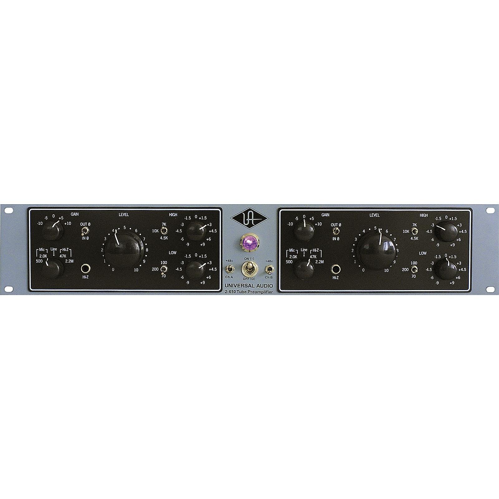 Open Box Universal Audio 2-610 Silverface Dual Channel Mic Pre