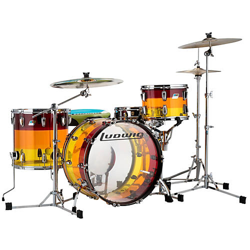 Open Box Ludwig 3-Piece Vistalite Tequila Sunrise Shell Pack