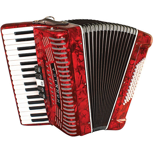 Open Box Hohner 72 Bass Entry Level Piano Accordion