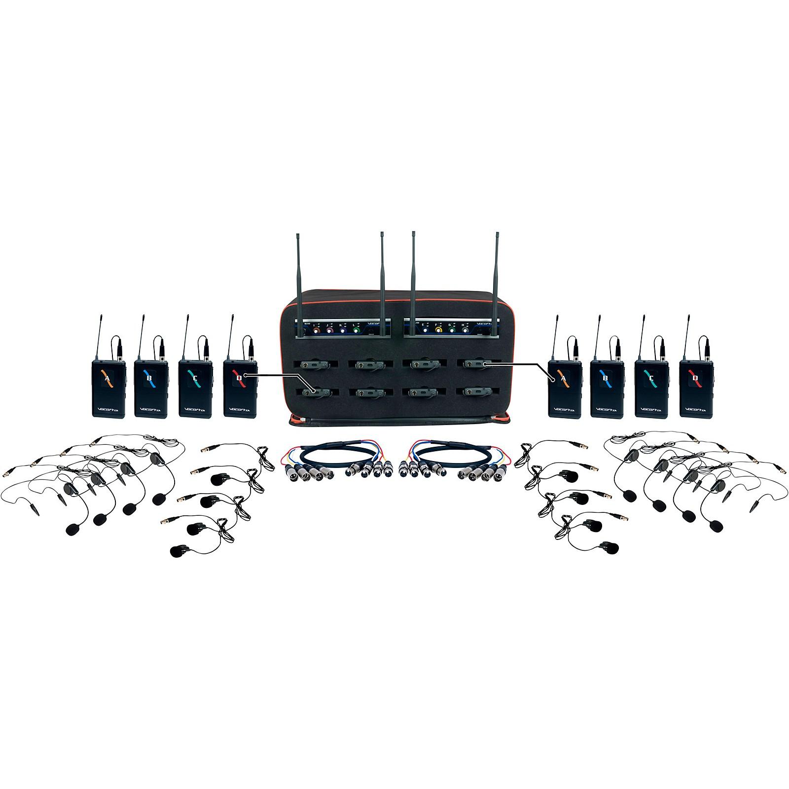 Open Box VocoPro 8 Channel Wireless Headset/Lapel Mic-In-Bag Package