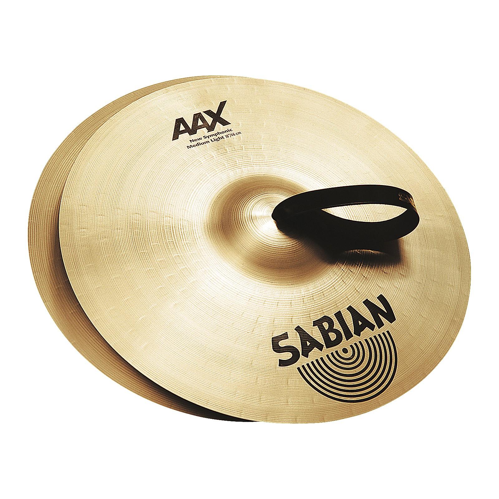 Open Box Sabian AAX New Symphonic Medium Light Cymbal Pair