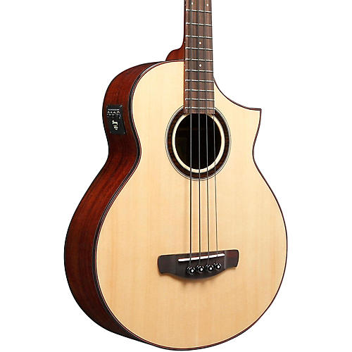 Open Box Ibanez AEW Series AEWB20NT Acoustic-Electric Bass Guitar