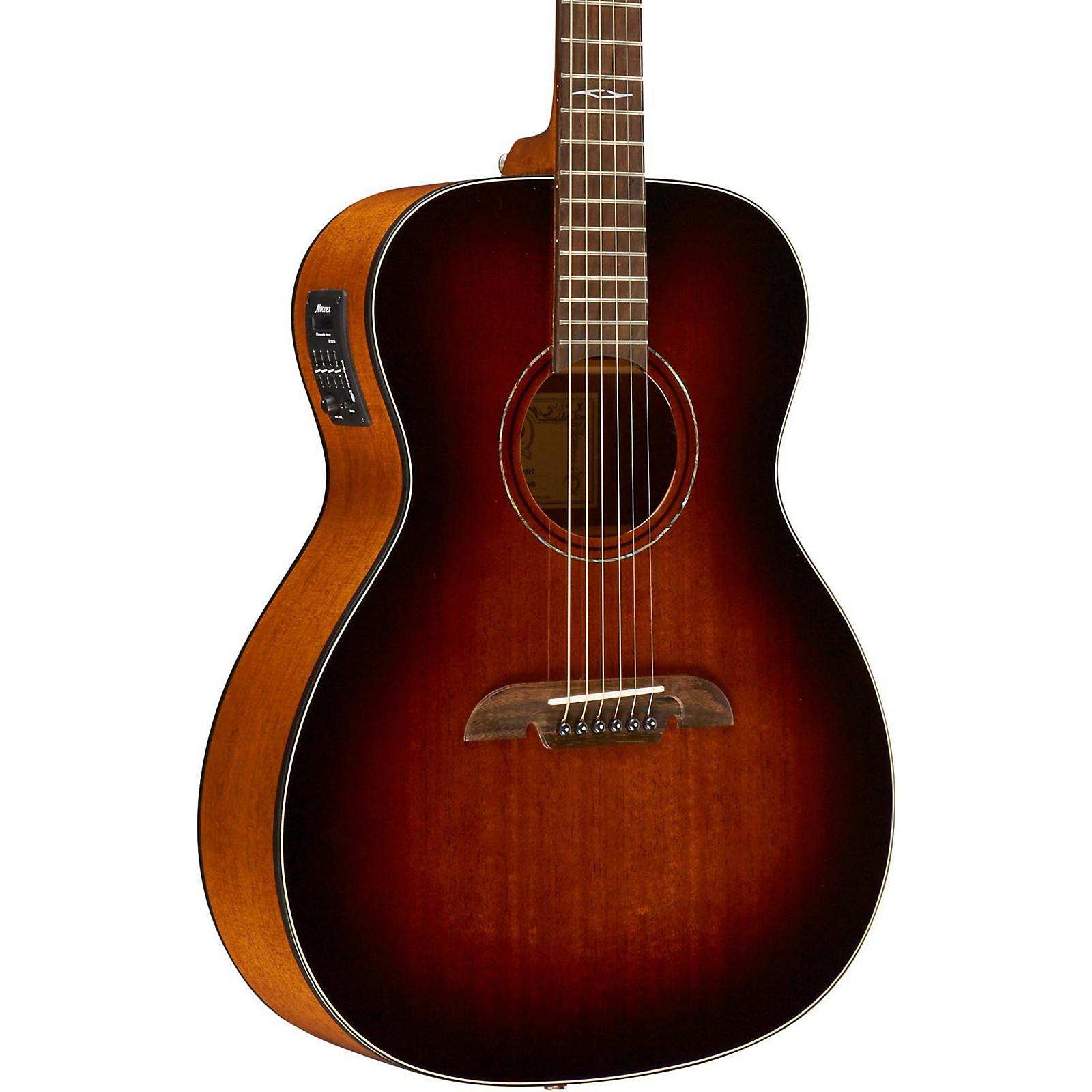 Open Box Alvarez AF660ESHB OM/Folk Acoustic-Electric Guitar