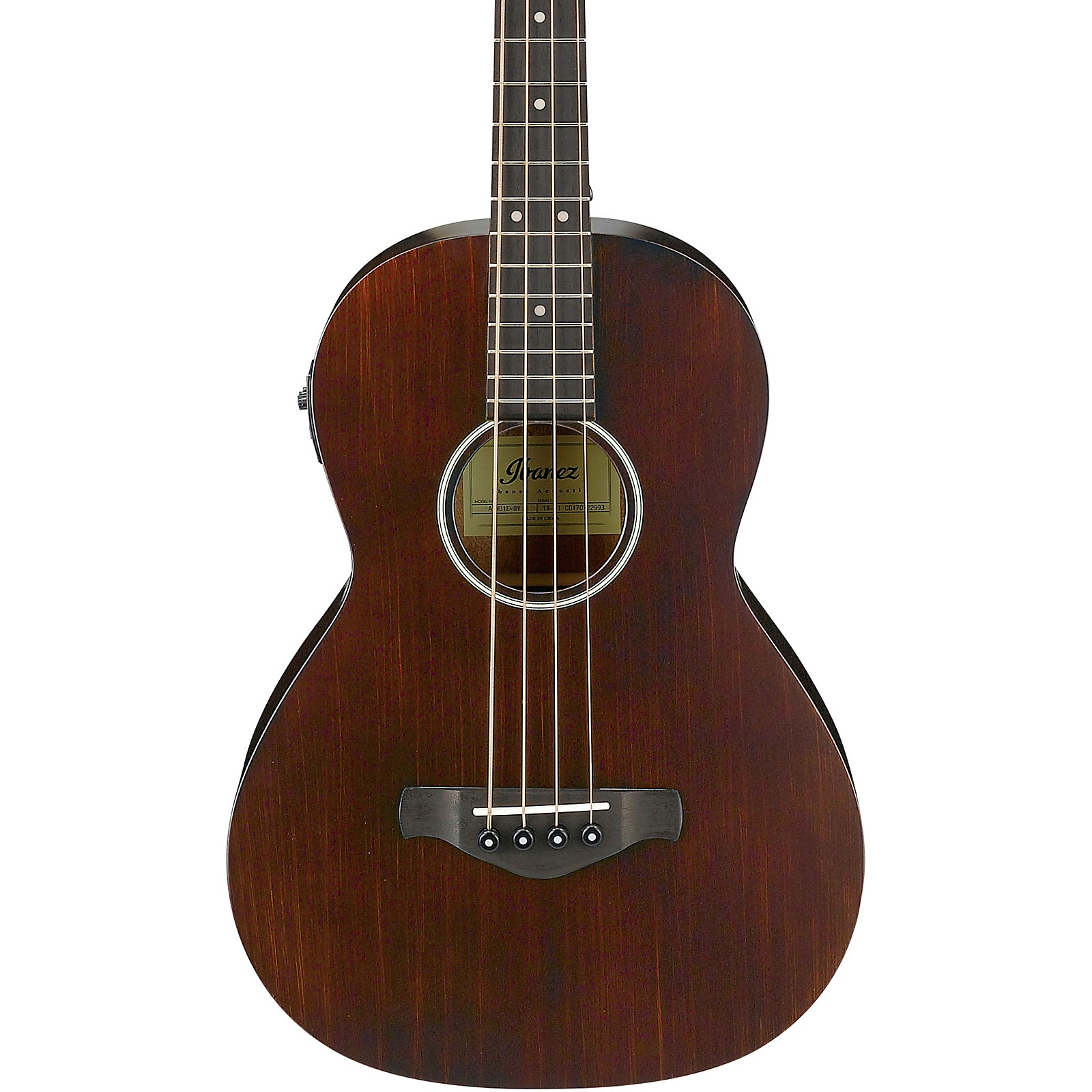 Open Box Ibanez AVNB1E Artwood Vintage Parlor Acoustic-Electric Bass