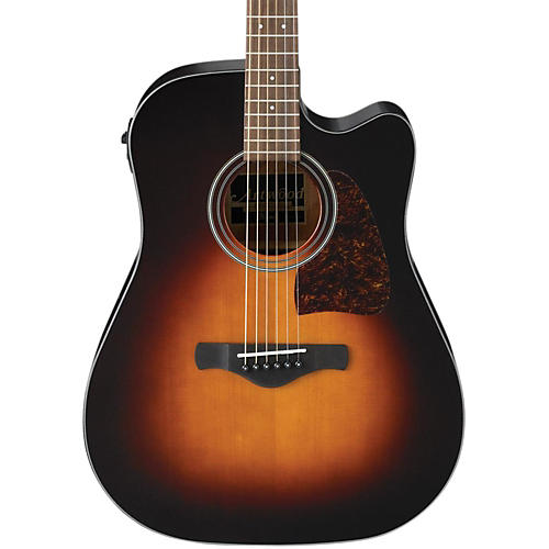 Open Box Ibanez AW400C Artwood Solid Top Dreadnought Acoustic-Electric Guitar