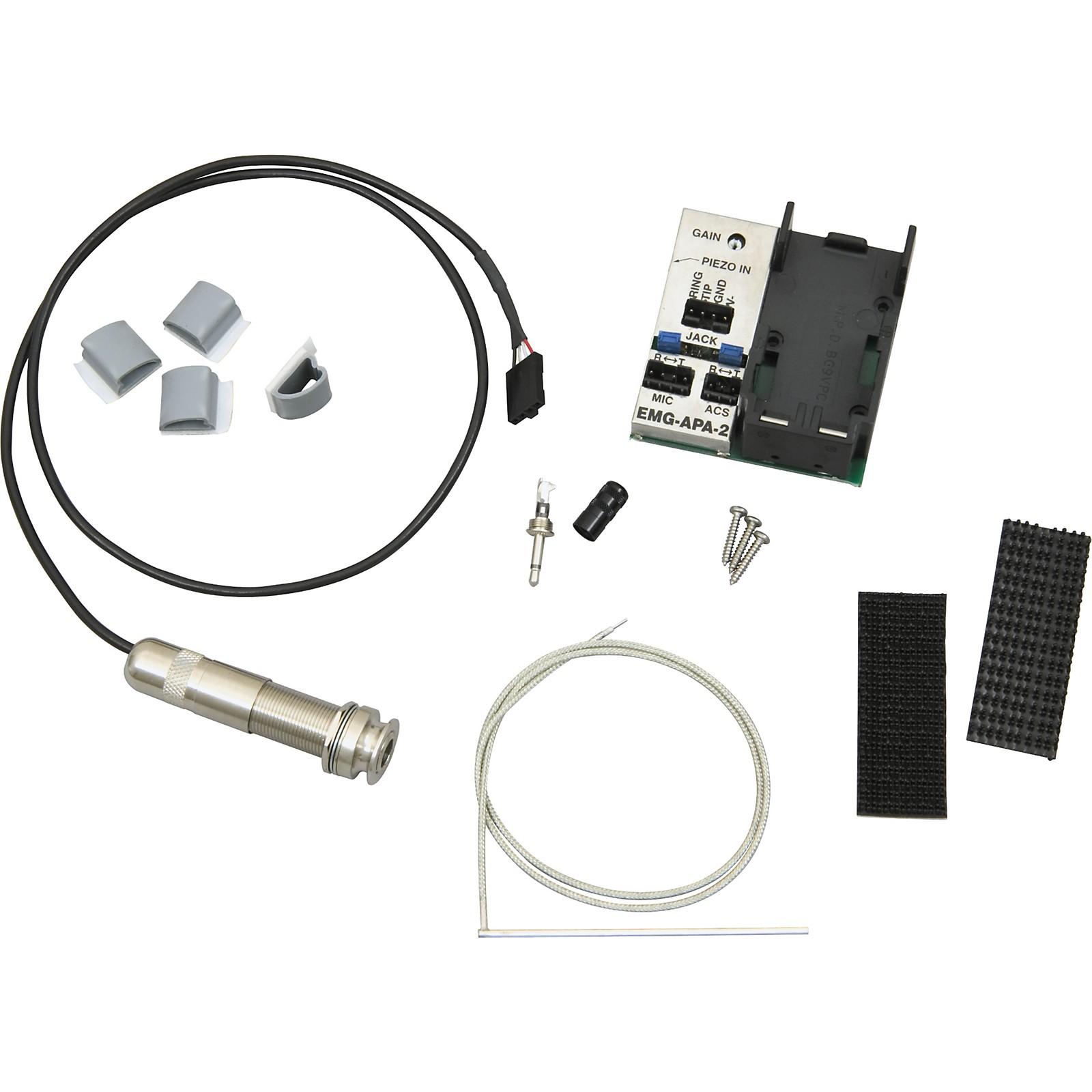 Open Box EMG Acoustic Saddle Pickup System - Narrow
