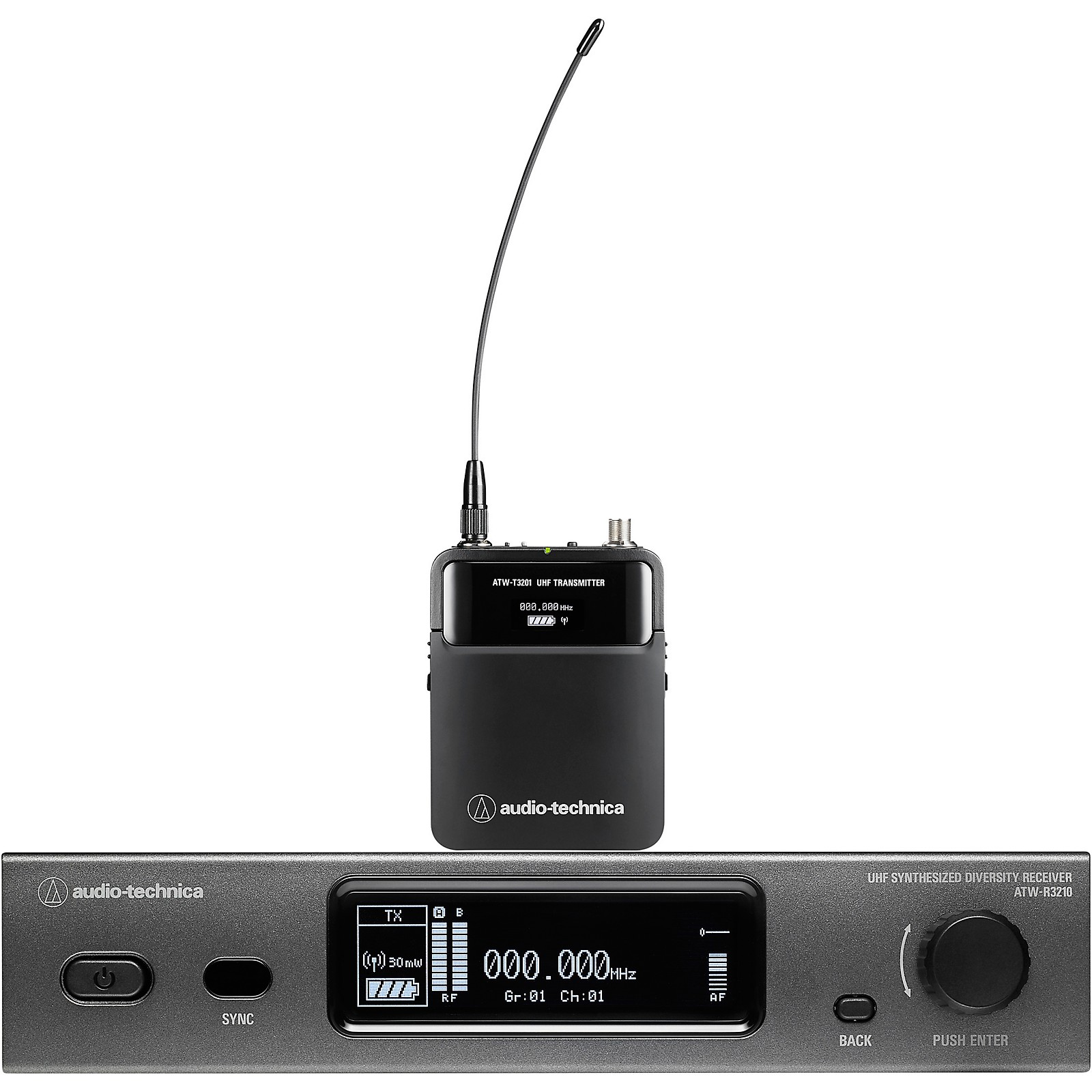 Open Box Audio-Technica ATW-3211 3000 Series Frequency-agile True Diversity UHF Wireless Systems