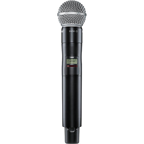 Open Box Shure Axient Digital AD2/SM58 Handheld Wireless Transmitter with SM58 Microphone