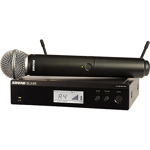 Open Box Shure BLX24R/SM58 Wireless System with Rackmountable Receiver and SM58 Microphone Capsule