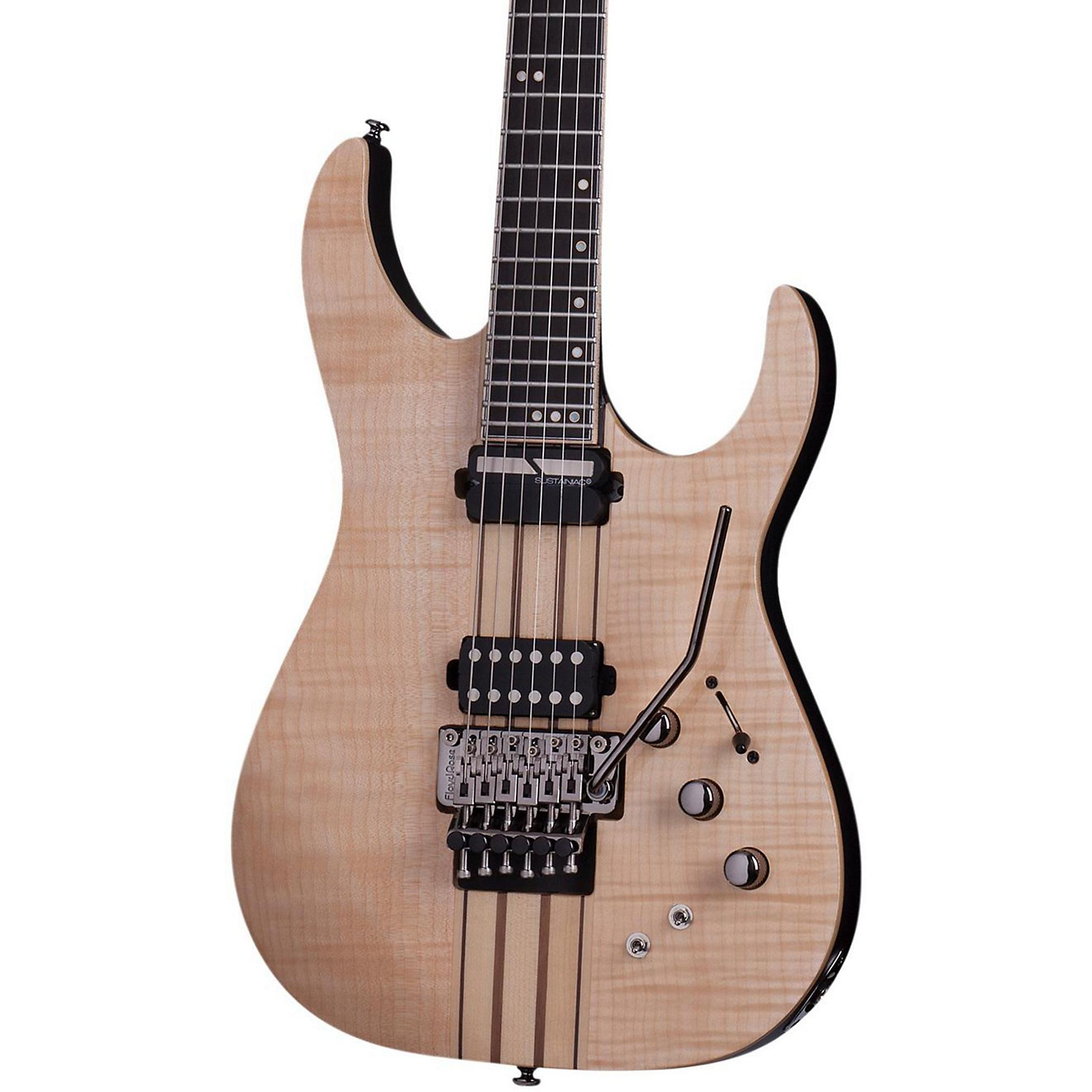 Open Box Schecter Guitar Research Banshee Elite-6 with Floyd Rose and Sustainiac Electric Guitar