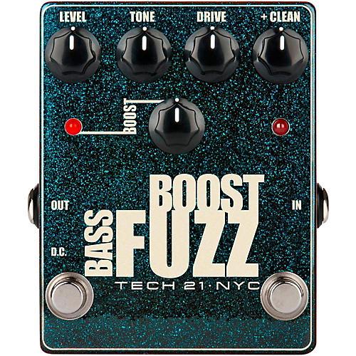 Open Box Tech 21 Bass Boost Fuzz Metallic Effects Pedal