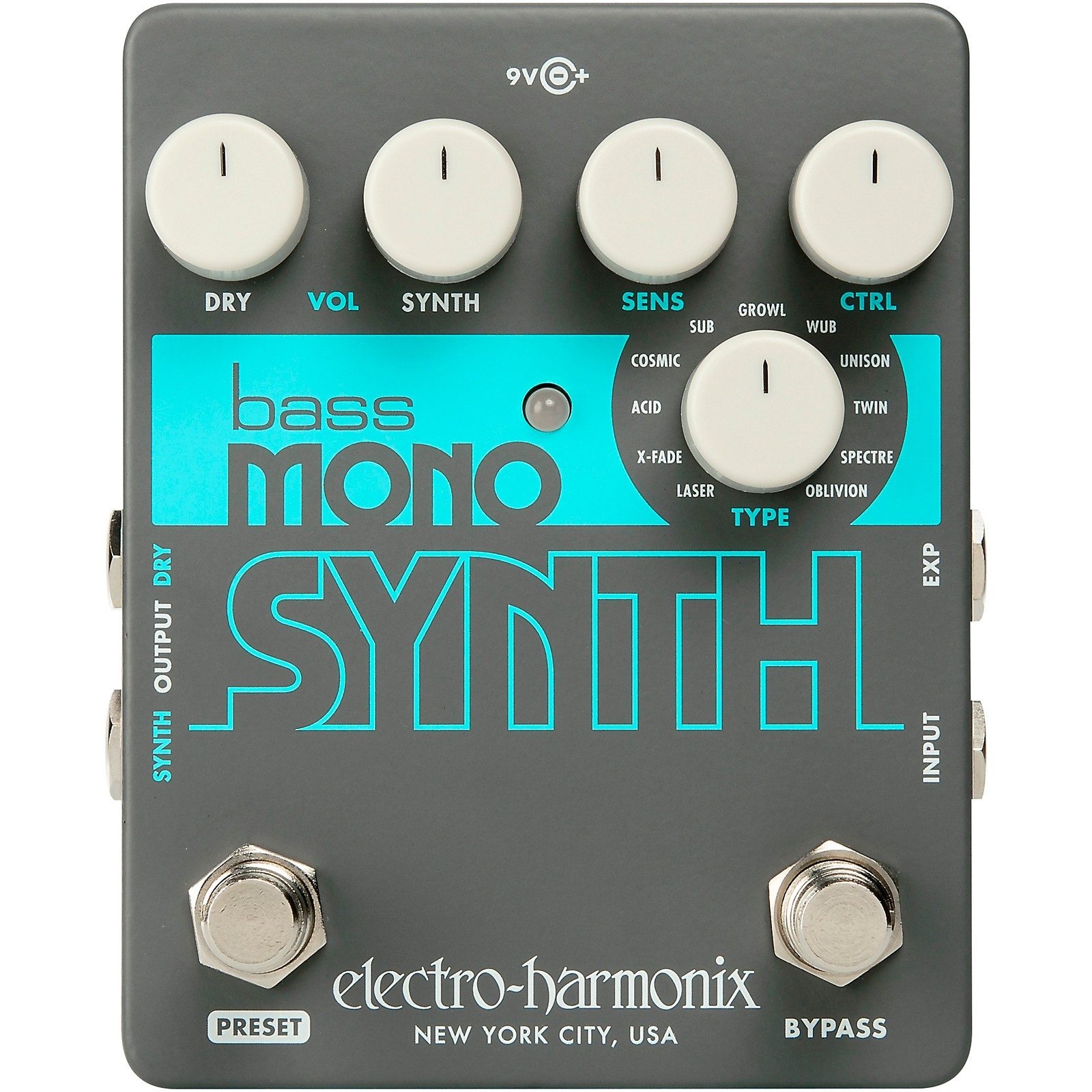 Open Box Electro-Harmonix Bass Mono Synth Bass Effects Pedal