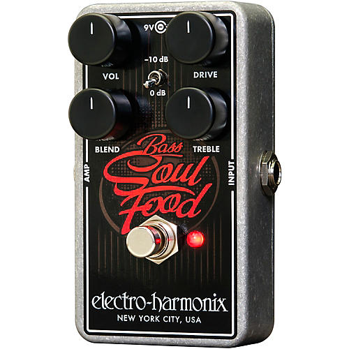 Open Box Electro-Harmonix Bass Soul Food Overdrive Effects Pedal