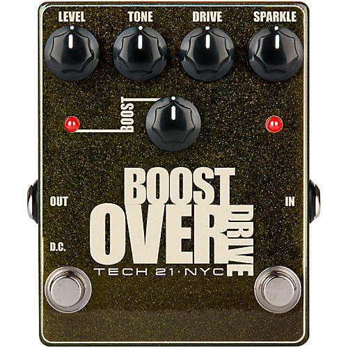 Open Box Tech 21 Boost Overdrive Effects Pedal