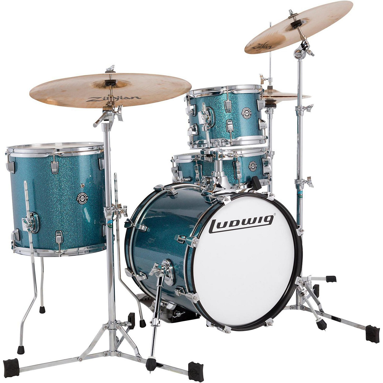 Open Box Ludwig Breakbeats by Questlove 4-Piece Shell Pack