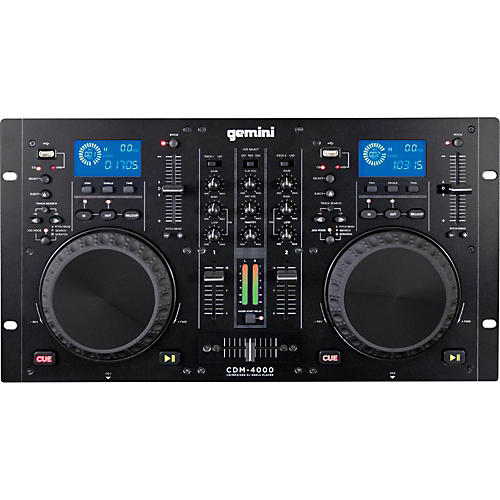 Open Box Gemini CDM-4000 Dual MP3/CD/USB Player and 2 Channel Mixer