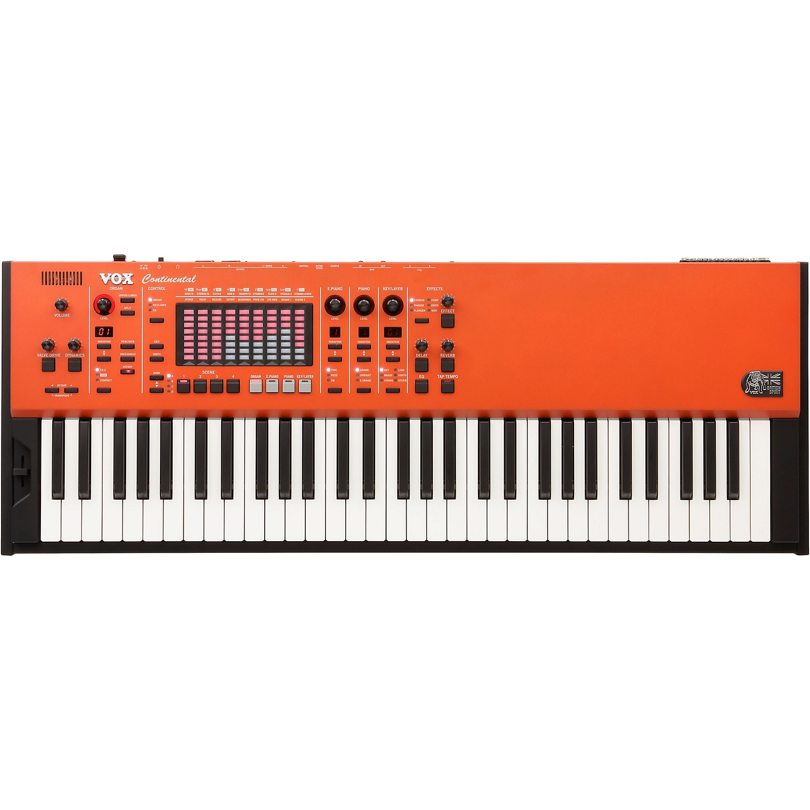 Open Box Vox Continental 61-Key Performance Synthesizer Organ