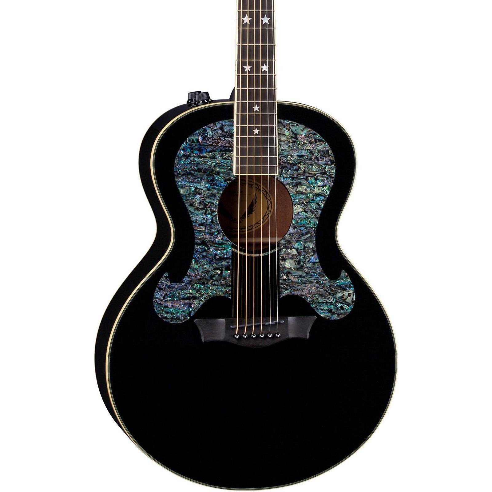 Open Box Dean Craig Wayne Boyd Solid Top Gloss Black Acoustic-Electric Guitar