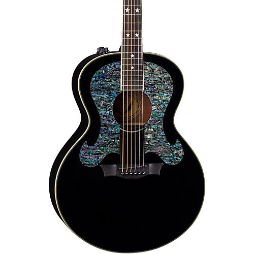Open Box Dean Craig Wayne Boyd Solid Top Gloss Black Acoustic-Electric Guitar