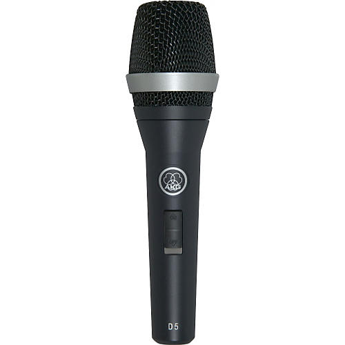 Open Box AKG D5 S Supercardioid Dynamic Vocal Microphone with On/Off Switch
