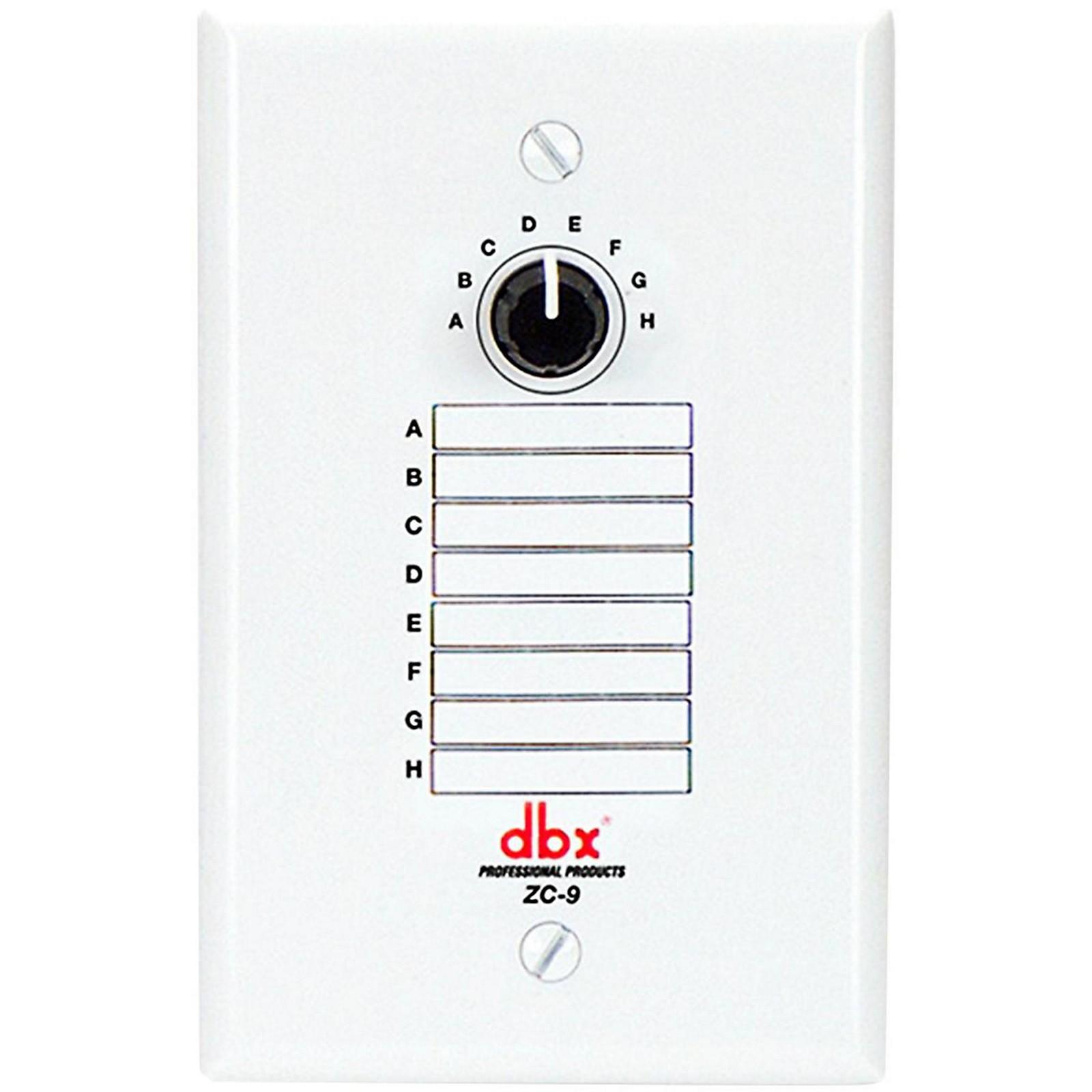 Open Box dbx DBXZC9V Wall Mount Zone Volume Control&*