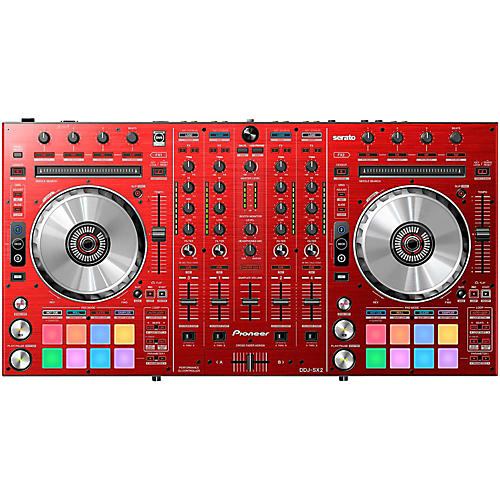 Open Box Pioneer DDJ-SX2 Limited Edition Red DJ Controller