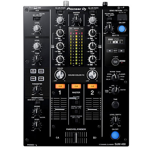 Open Box Pioneer DJM-450 Professional Compact Mixer