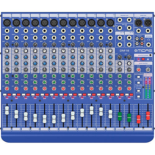 Open Box Midas DM16 16-channel Analog Mixer
