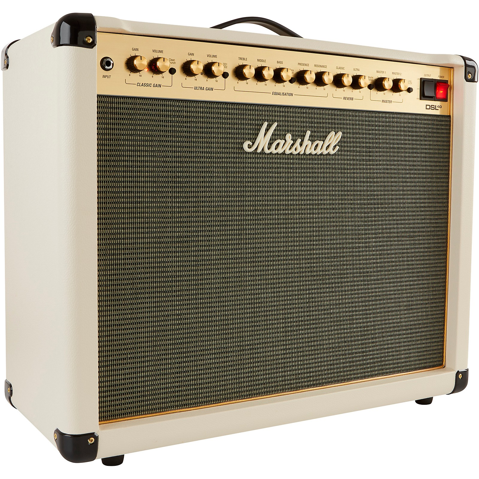 Open Box Marshall DSL40CR Limited-Edition Cream 40W 1x12 Tube Guitar Combo Amp