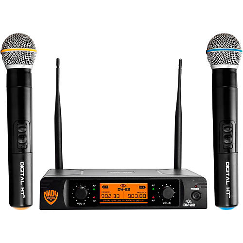 Open Box Nady DW-22 HT 24 bit Digital Dual Handheld Wireless Microphone System