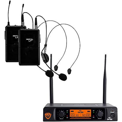 Open Box Nady DW-22 LT 24 bit Digital Dual Headmic Wireless Microphone System