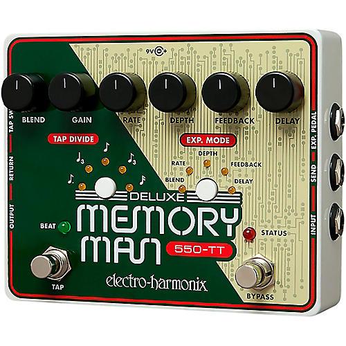 Open Box Electro-Harmonix Deluxe Memory Man Tap Tempo 550 Delay Guitar Effects Pedal