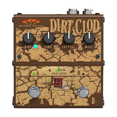 Open Box Decibel Eleven Dirt Clod Analog Overdrive-Distortion Guitar Effects Pedal