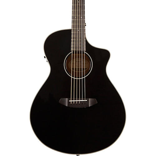 Open Box Breedlove Discovery Concert Black CE Sitka Spruce-Mahogany  Acoustic-Electric Guitar