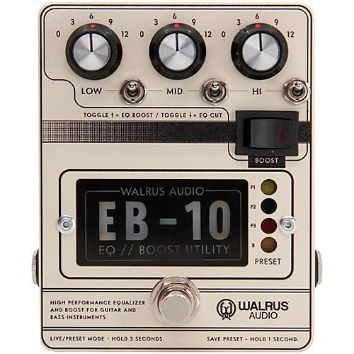 Open Box Walrus Audio EB-10 Preamp/EQ/Boost Effects Pedal