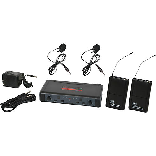 Open Box Galaxy Audio ECD Dual Channel UHF Wireless System with Dual Lavalier Microphones