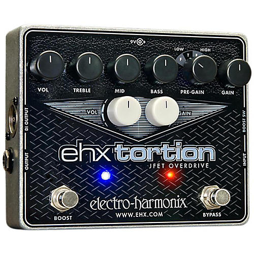 Open Box Electro-Harmonix EHXTortion JFET Overdrive Guitar Effects Pedal