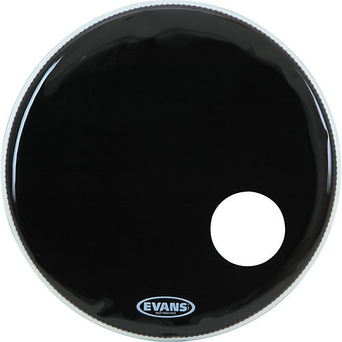 Open Box Evans EQ3 Black Resonant Bass Drumhead