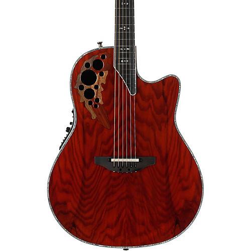 Open Box Ovation Elite Plus C2078AXP-OAB Olive Ash Burl Acoustic-Electric Guitar