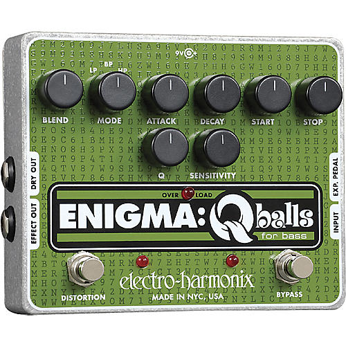 Open Box Electro-Harmonix Enigma Qballs Envelope Filter Bass Effects Pedal