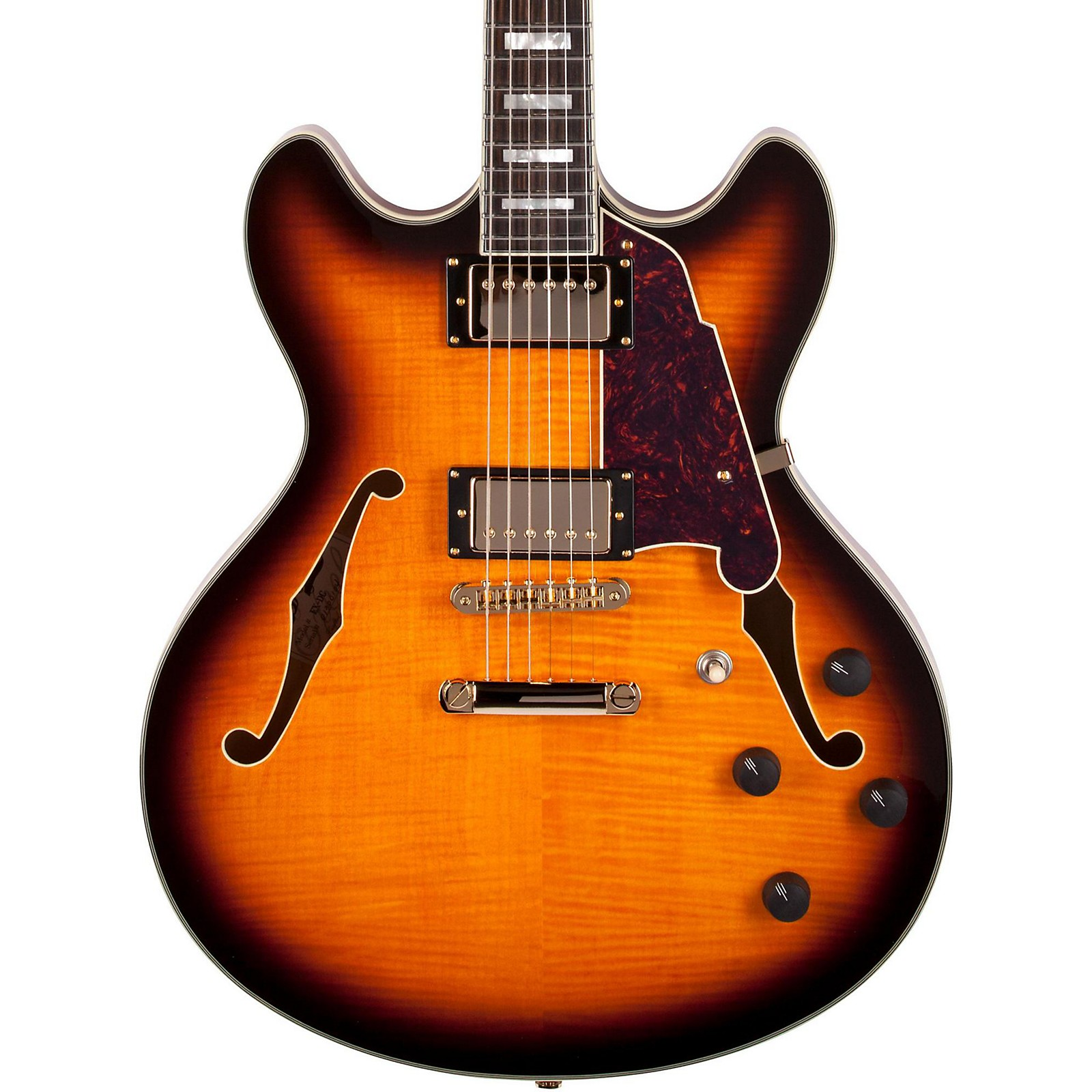 Open Box D'Angelico Excel Series DC Semi-Hollow Electric Guitar with Stopbar Tailpiece