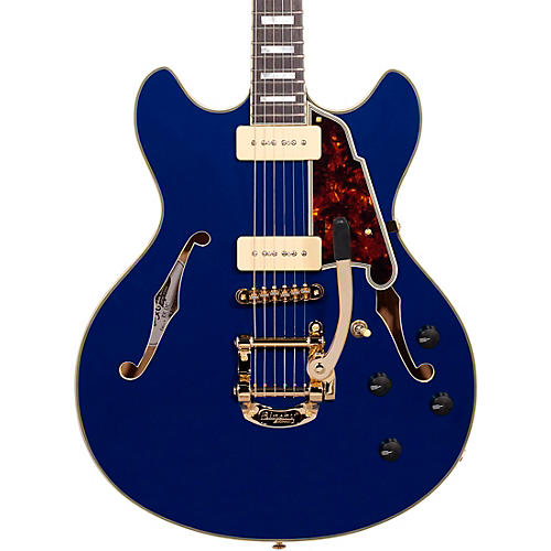 Open Box D'Angelico Excel Series Shoreline DC Bigsby Tailpiece Semi-Hollowbody Electric Guitar