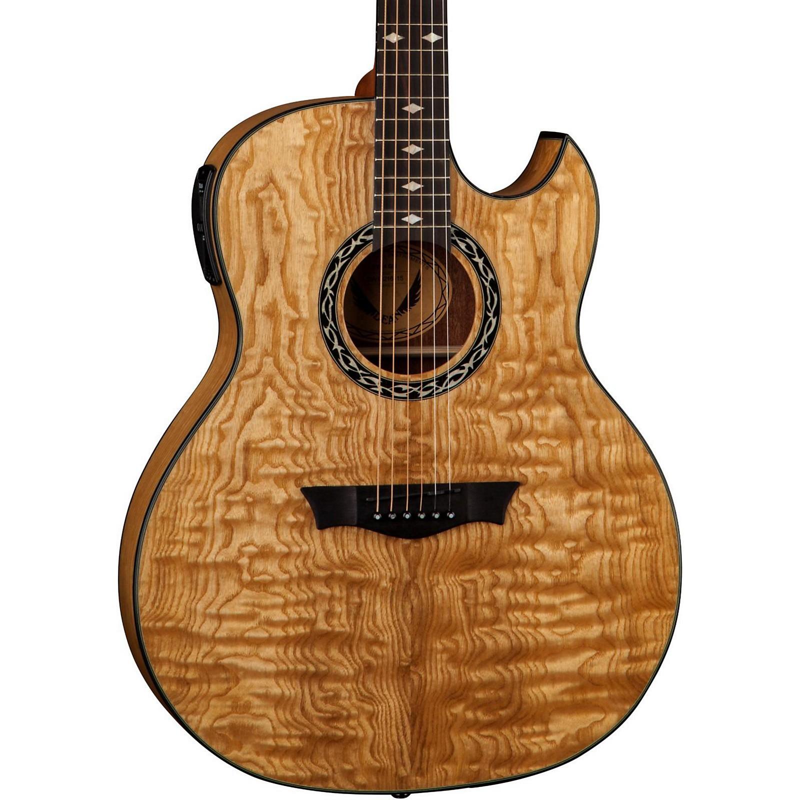 Open Box Dean Exhibition Quilt Ash Acoustic-Electric Guitar with Aphex