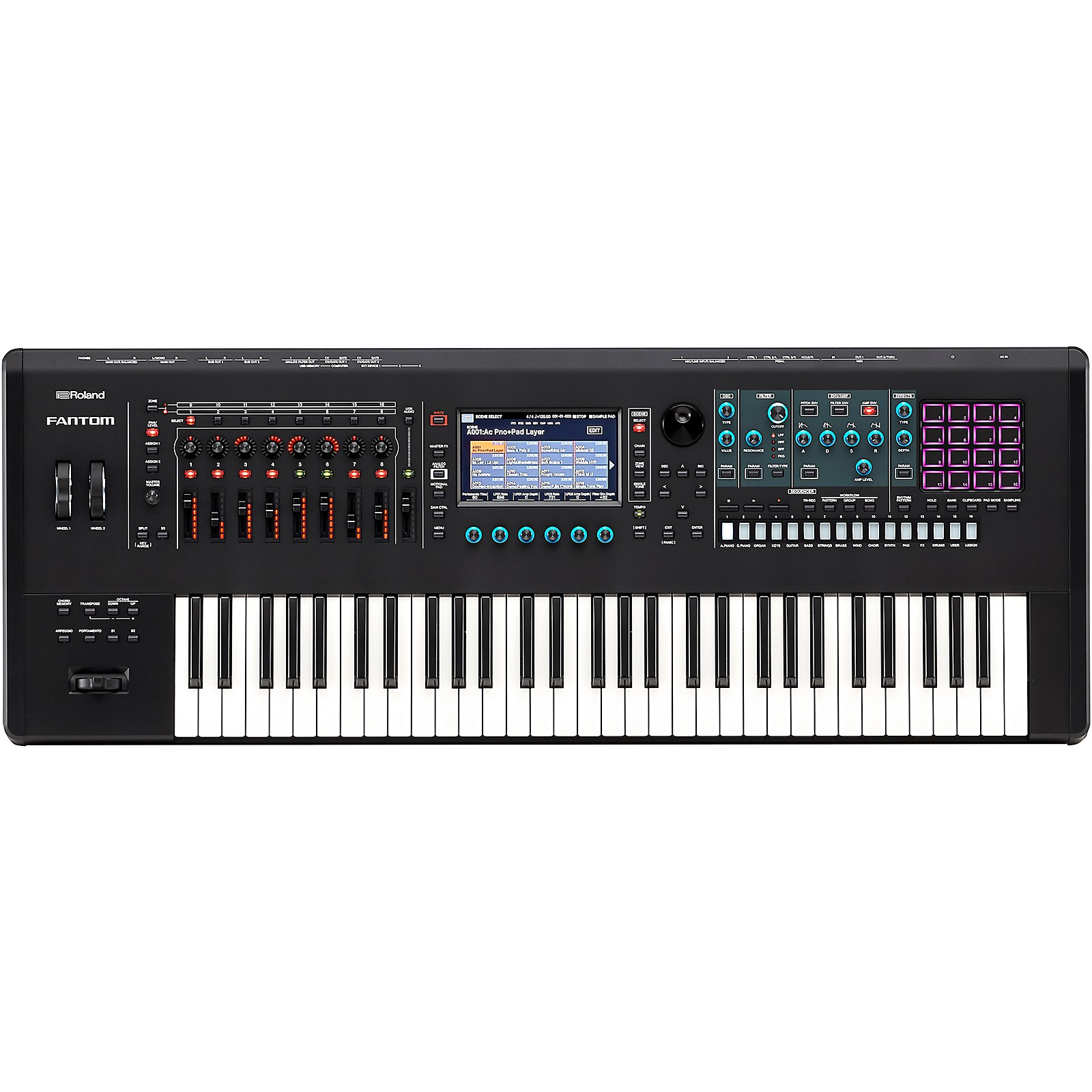 Open Box Roland FANTOM-6 Music Workstation Keyboard