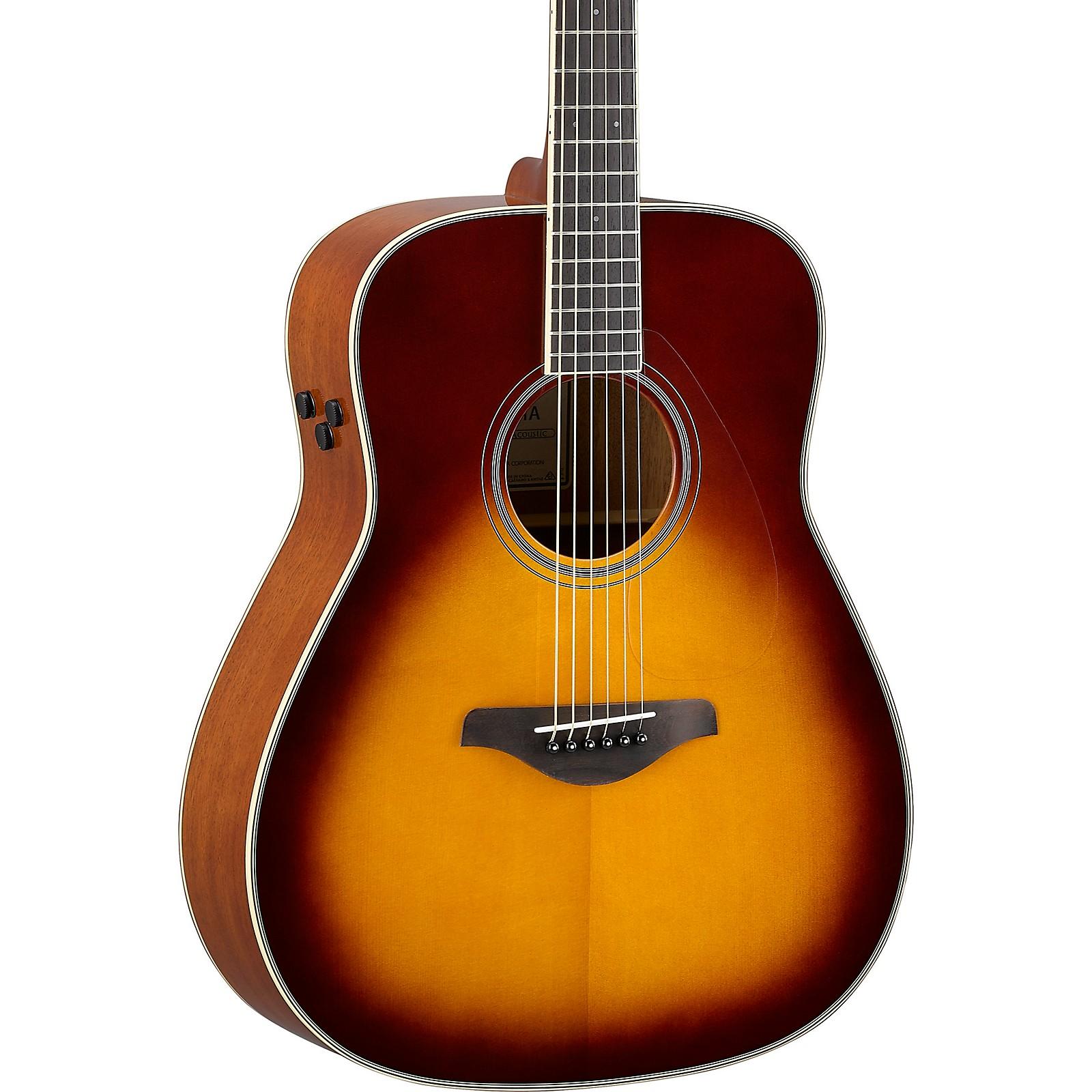 Open Box Yamaha FG-TA TransAcoustic Dreadnought Acoustic-Electric Guitar